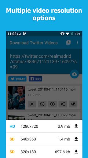 Download Twitter Videos - Twitter video downloader 1.0 screenshots 1