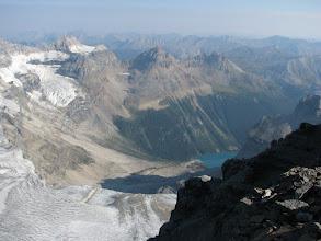 Photo: Lake Gloria hundreds of vertical meters below.