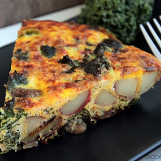 Red Potato, Kale, Mushroom and Feta Frittata #BetterWithReds #HealthyChoices