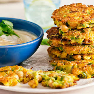 Chickpea and Zucchini Fritters.