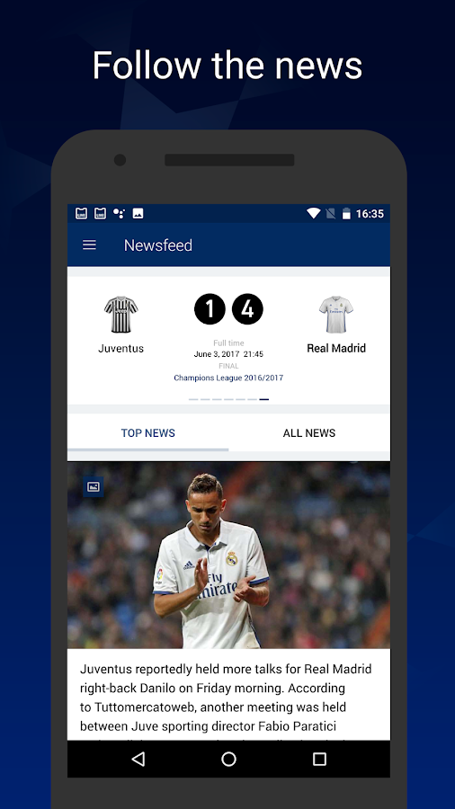 League Live — unofficial app for Champions League- screenshot