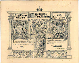 Photo: Wallace's invitation to the Coronation of King George V and Queen Mary at Westminster Abbey on 22 June 1911. Copyright: Wallace Family.