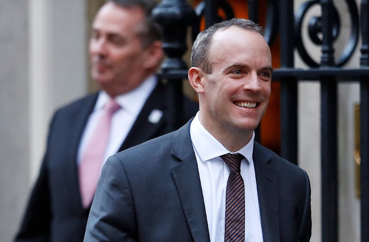 Exiting: UK Brexit secretary Dominic Raab. Picture: REUTERS/PETER NICHOLLS