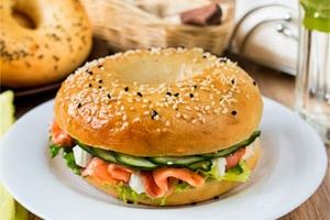 Bagel with Salmon and Cream Cheese