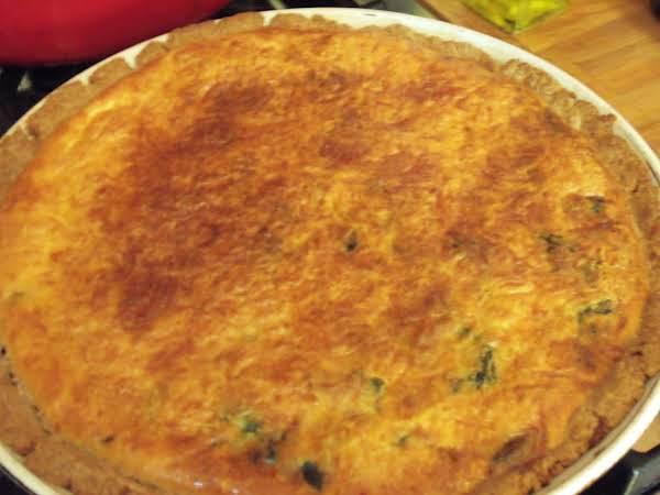 Spinach-mushroom Quiche Recipe