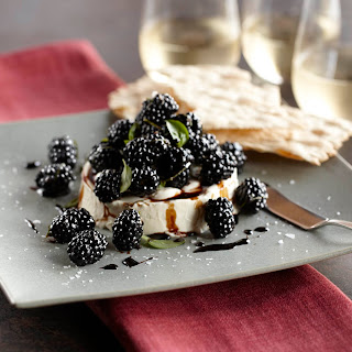 Mascarpone Dip with Basil Blackberries.