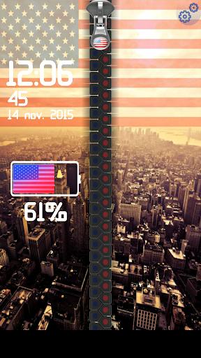米国旗ジッパーロック