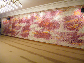 Photo: This large mural (by Jean Bazaine in 1988) is at the entrance to the Clemenceau Hall.