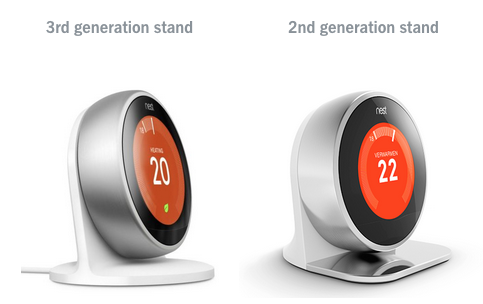Nest thermostat gen 1 and gen 3 stands