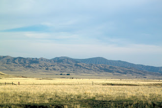 Photo: Farms in the distance. Most of this area is owned by BLM, as far as we could understand. They're also a shared grazing area.