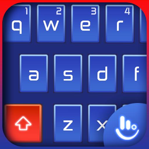 Technology Blue Mechanical Keyboard Theme