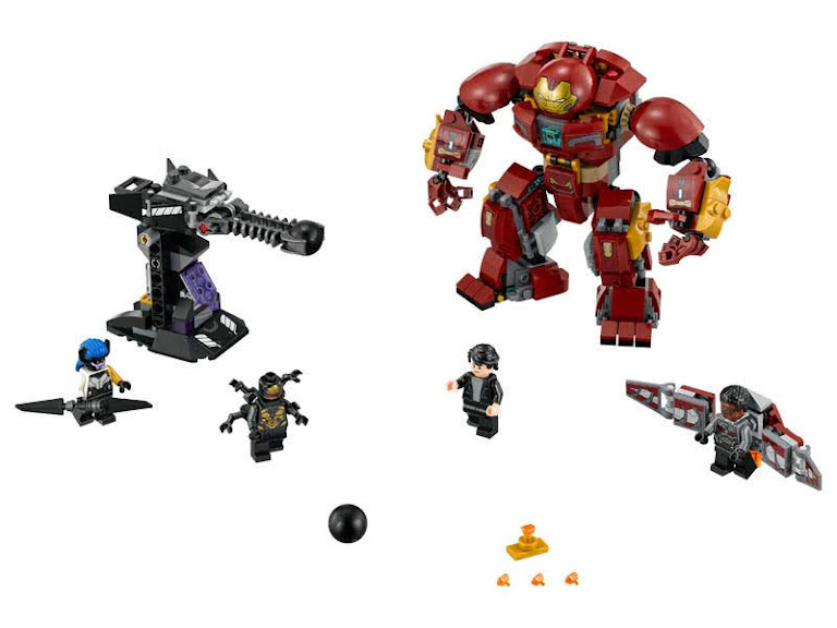 Contenido de Lego® 76104 Incursión demoledora del Hulkbuster