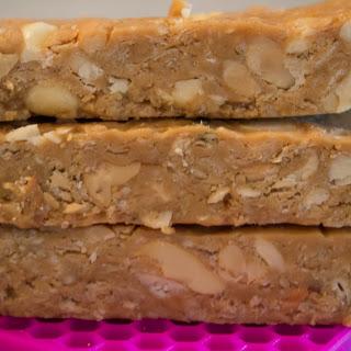 Cashew Peanut Butter Oat Bars
