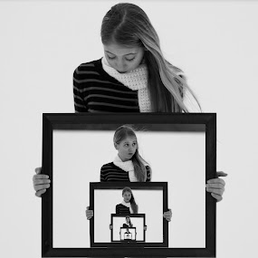 Endless Frames of Possiblility by Caitlin Scroggins - Babies & Children Child Portraits ( sister, child, canon, girl, creative, frames, endless, tamron, portrait )