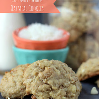 Coconut Cashew Oatmeal Cookies