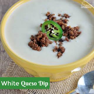 White Queso Dip with Chorizo.