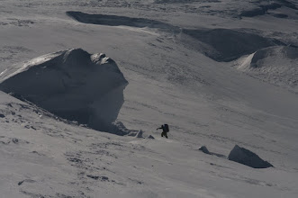Photo: Looking for a place to camp on Summint Plateau.