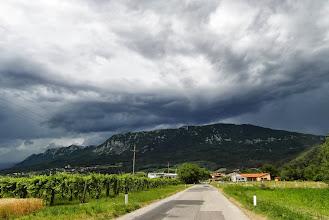 Photo: Widok na Vrchopolje z cudownymi chmurzyskami nad górami ;-)