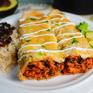 Sweet Potato and Black Bean Enchiladas