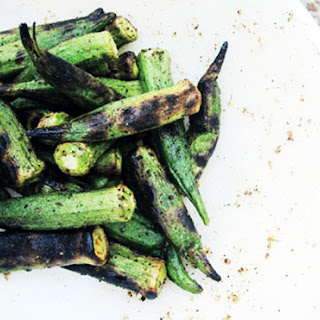 Spicy Grilled Okra.