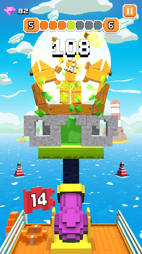 Blocky Tower - Knock Box Balls Ultimate Knock Out android2mod screenshots 3