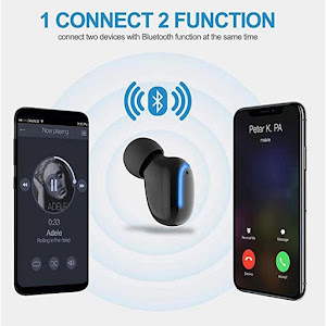 Casca Bluetooth HBQ-Q13S, Handsfree, TWS Single, incarcare Port USB inclus