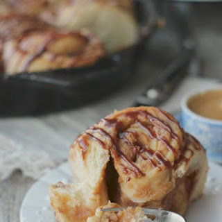 Peanut Butter Sweet Rolls with Chocolate Glaze.