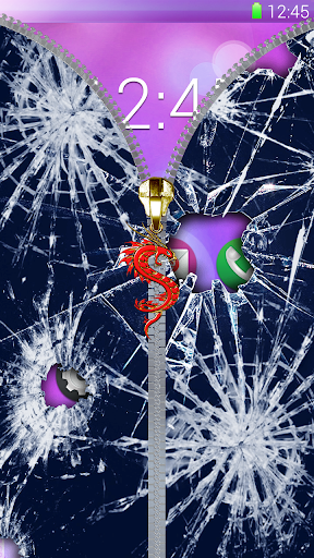 碎玻璃,锁屏