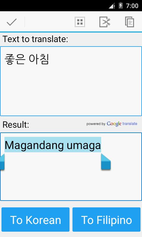Google Translate Korean To Tagalog
