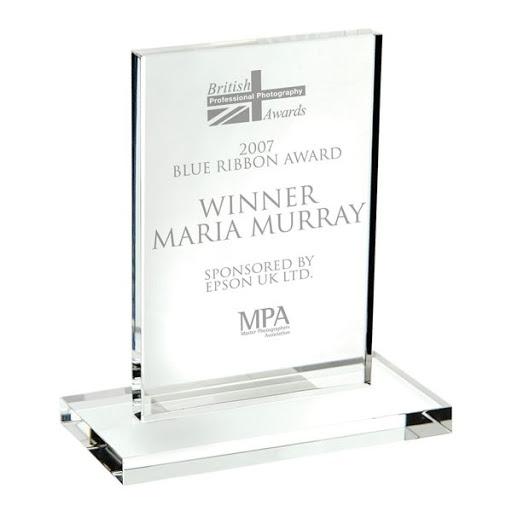 12.5 Optical Crystal Block Trophy Award & Base