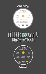 All-Round Clock Widget for KWGT KLWP- screenshot thumbnail