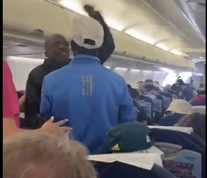 The passenger was escorted off the flight for allegedly refusing to wear a face mask.