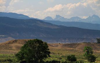 Photo: Nous voilà maintenant au Colorado! Au loin commencent à se profiler les pics des Rocheuses.