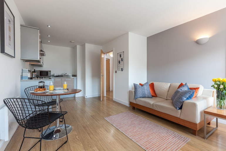 Living space - 1 bed apartment
