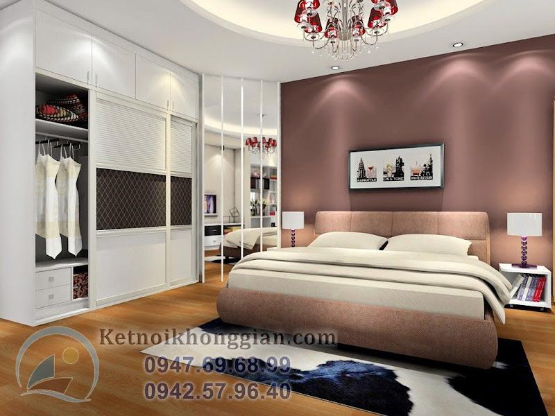 thiết kế phòng ngủ quý phái