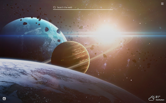 Planets HD Wallpapers New Tab Theme