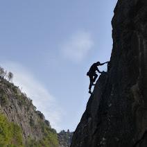 Fotos da escola de escalada do Canón do Sil (Os Peares, Ourense).
