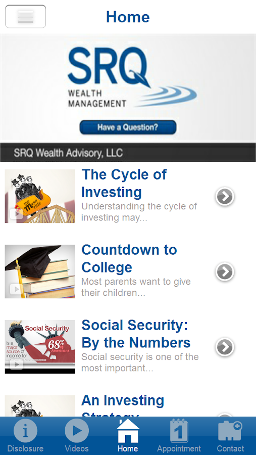 SRQ Wealth Management- screenshot