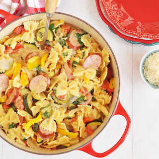 Kielbasa Peppers And Onions Pasta Recipes