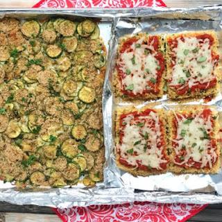 Sheet Pan Tofu and Zucchini Parmesan.
