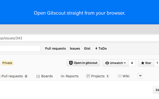 Gitscout Chrome Extension