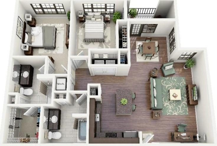 New home design idea android apps on google play for Plan maison 6 chambres
