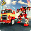 Flying Robot FireFighter: Truck Transform Game