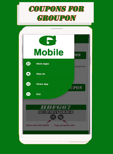 Coupons For Groupon & Deals Discounts App Report on Mobile