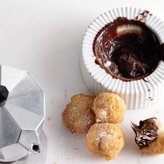 Zeppole with Chocolate Sauce
