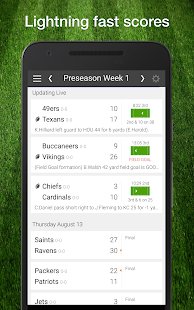 Football NFL 2017 Schedule & Scores: PRO Edition - náhled