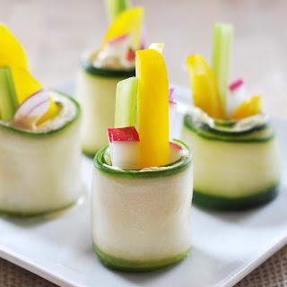 Raw Cucumber Roll-Ups, Vegan + Gluten-Free