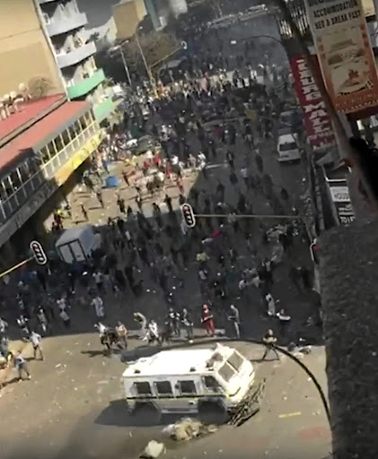 Police avoided what could have been a bloody stand-off with foreign nationals in the Johannesburg CBD.