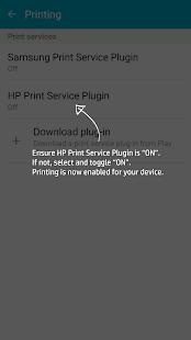 Screenshots of HP Print Service Plugin for iPhone