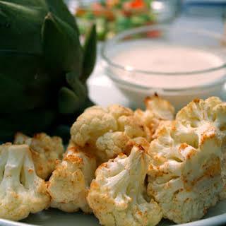 Roasted Cauliflower with Tahini Sauce.